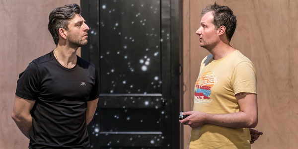Nicholas Karimi and Neil Haigh in The Twilight Zone rehearsals (Photo: Johan Persson)