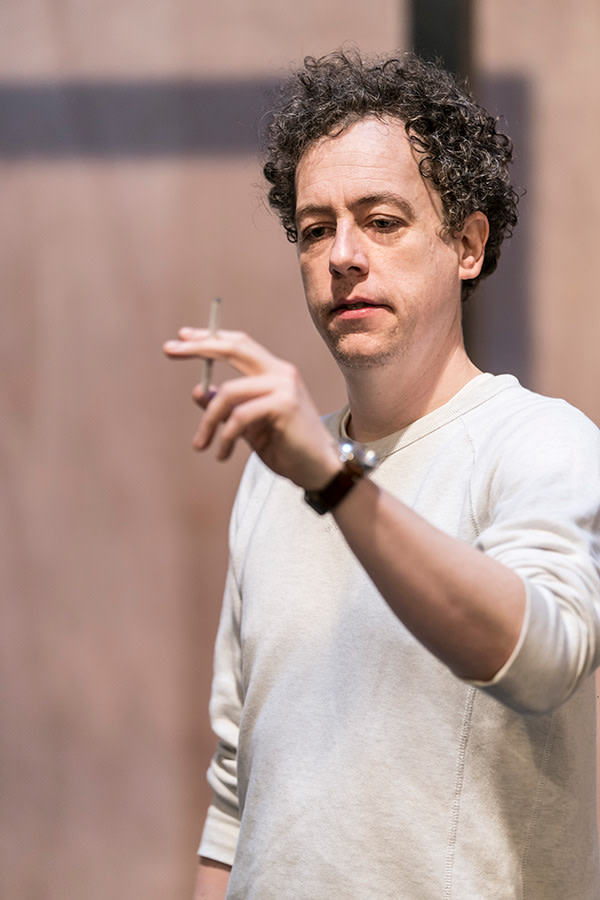 Matthew Steer in The Twilight Zone rehearsals (Photo: Johan Persson)