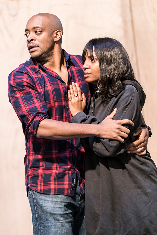 Oliver Alvin-Wilson and Alisha Bailey in The Twilight Zone rehearsals (Photo: Johan Persson)