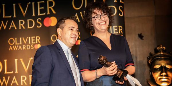 Kenny Wax and Bendy Ashfield at the Olivier Awards 2019 with Mastercard nominees celebration (Photo: Pamela Raith)