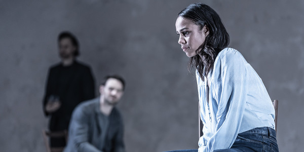 Tom Hiddleston, Charlie Cox and Zawe Ashton in Betrayal at the Harold Pinter Theatre (Photo: Marc Brenner)