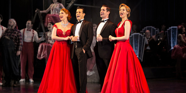 Danny Mac and Dan Burton in the original Curve production of White Christmas (Photo: Catherine Ashmore/Ellie Kurttz)