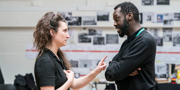 Bessie Carter and Sule Rimi in rehearsal for All My Sons at The Old Vic (Photo: Johan Persson)