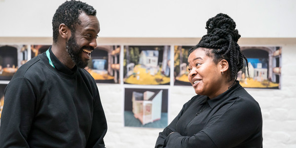 Sule Rimi and Kayla Meikle in rehearsal for All My Sons at The Old Vic (Photo: Johan Persson)