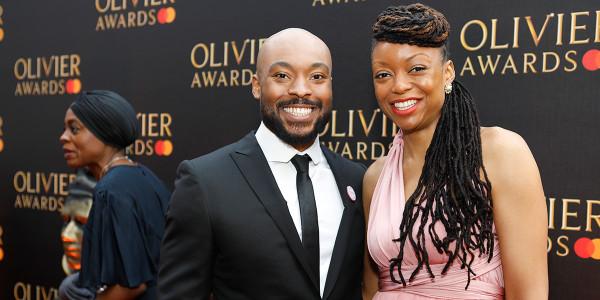 Arinzé Kene on the red carpet at the Olivier Awards 2019 with Mastercard (Photo: Pamela Raith)