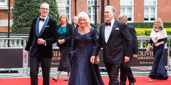 Julian Bird and the Duchess of Cornwall on the red carpet at the Olivier Awards 2019 with Mastercard (Photo: Pamela Raith)