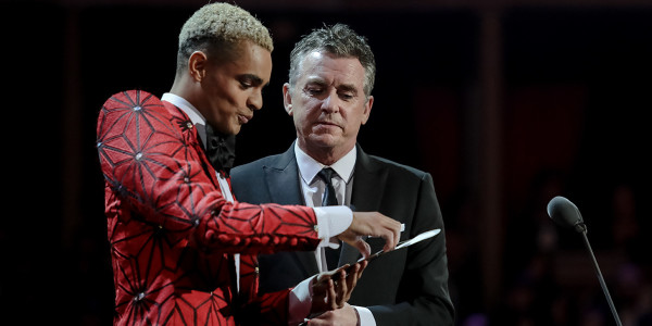 Layton Williams and Shane Richie present Best Actress in a Musical