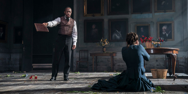 Giles Terera and Hayley Atwell in Rosmersholm (Photo: Johan Persson)