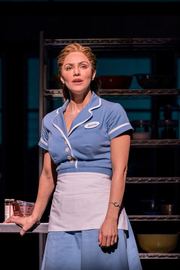 Katharine McPhee as Jenna in Waitress. (Photo credit Johan Persson)