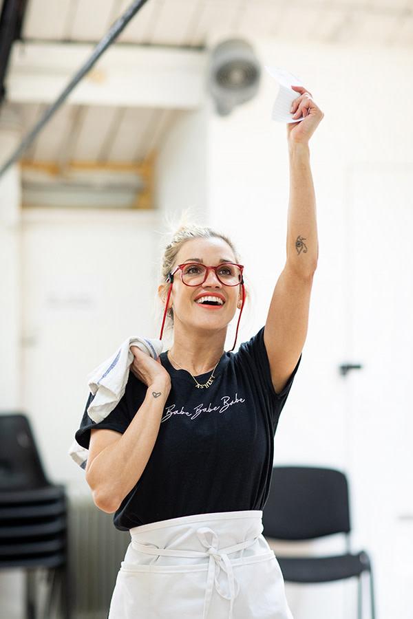 Ashley Roberts in Waitress rehearsals (Photo: Helen Maybanks)