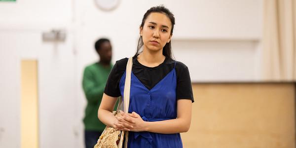 Ioanna Kimbrook in Bitter Wheat rehearsals (Photo: Helen Maybanks)