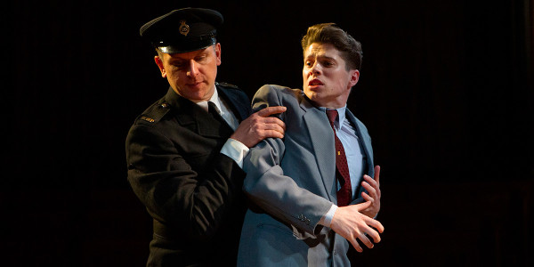 Karl Wilson and Lewis Cope in Witness For The Prosecution (Photo: Ellie Kurttz)