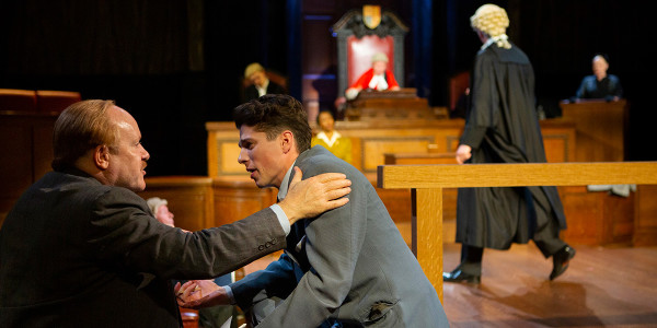 Tim Frances and Lewis Cope in Witness For The Prosecution (Photo: Ellie Kurttz)