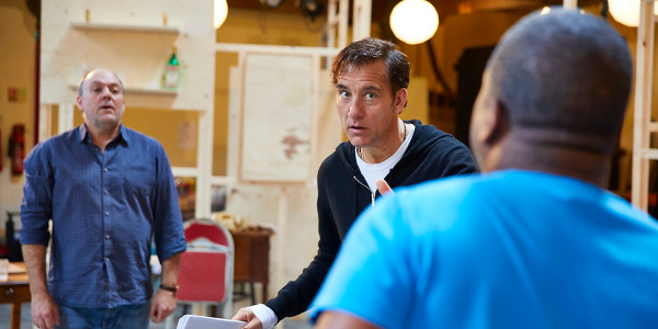 Clive Owen and Ian Drysdale in rehearsal for The Night Of The Iguana (Photo: Brinkhoff/Moegenburg)