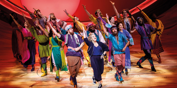 Sheridan Smith and the company of Joseph and the Amazing Technicolor Dreamcoat London. Photographer: Tristram Kenton