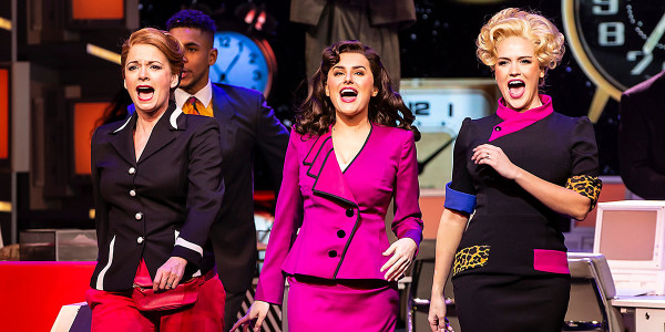 Caroline Sheen, Amber Davies and Natalie McQueen in 9 To 5 The Musical