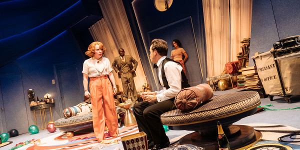 The cast of Present Laughter (Photo: Manuel Harlan)