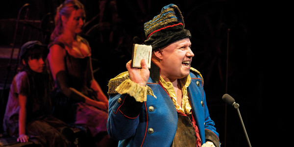 Matt Lucas as Thénardier - Photograph Michael Le Poer Trench