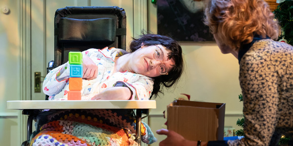Storme Toolis & Claire Skinner in A Day In The Death Of Joe Egg
