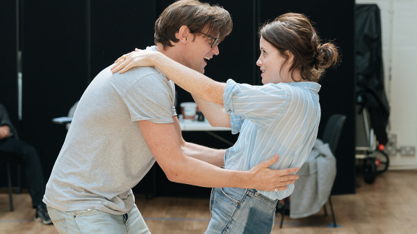 London Theatre News Today: Matt Smith and Claire Foy in rehearsal for Lungs. Photo by Manuel Harlan.
