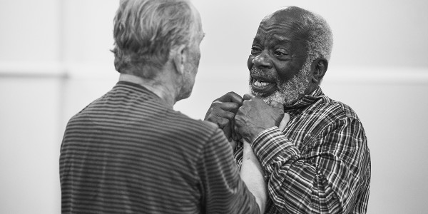 Joseph Marcell interview: Christopher Fairbank & Joseph Marcell in rehearsal for Ages Of The Moon. Photo by Mark Senior.