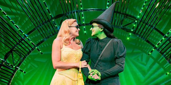 Helen Woolf as Glinda and Nikki Bentley as Elphaba. Photo By Matt Crockett.