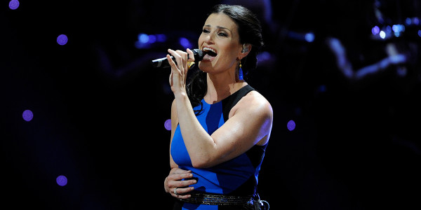 Nikki Bentley interview: Idina Menzel performing at the 2013 Olivier Awards. Photo by Rex Features.