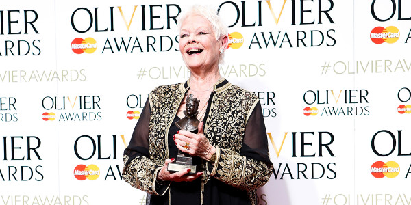 Lucy Eaton interview: Dame Judi Dench with the Olivier Award for Best Actress in a Supporting Role in The Winter's Tale in 2016