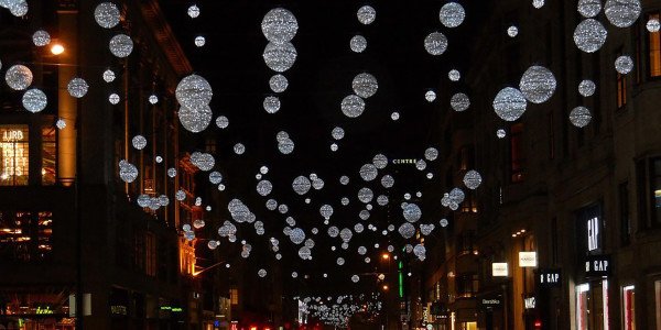 Oxford Street Christmas lights. Photo by Ian Rob.