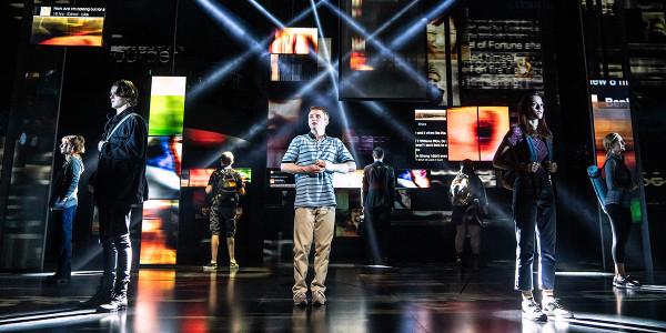 Sam Tutty in Dear Evan Hansen at the Noël Coward Theatre. Photo by Matthew Murphy