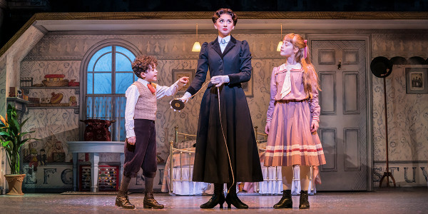 Zizzi Strallen, and Children in Mary Poppins. Photo by Johan Persson.