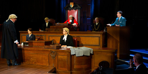 The cast of Witness for the Prosecution in 2019. Photo by Ellie Kurttz.