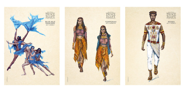 The Prince Of Egypt costume sketches by Ann Hould-Ward