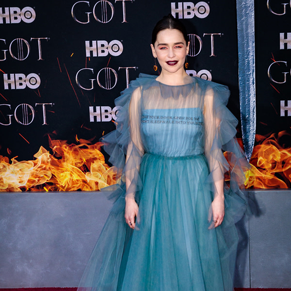 Emilia Clarke at the Game of Thrones Season 8 World Premiere at Radio City Music Hall, April 3, 2019. Photo by Sachyn Mital.