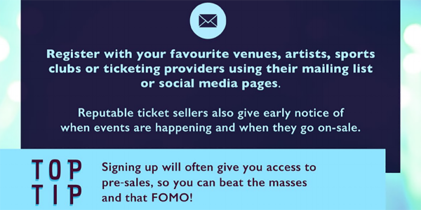 Ticketing Tips - Sign Up