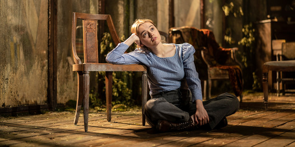 Aimee Lou Wood in Uncle Vanya. Photo by Johan Persson.