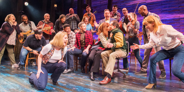 The West End company in Come From Away at the Phoenix Theatre 2020. Credit Craig Sugden