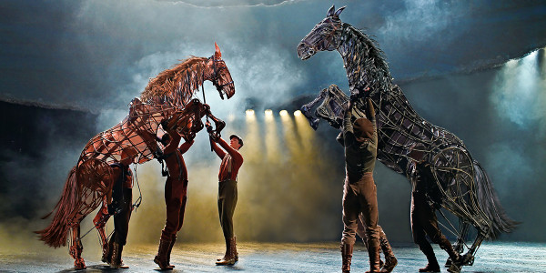 The famous horses from National Theatre's War Horse raise onto their back legs