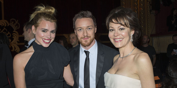 Billie Piper, James McAvoy and Helen McCrory at the 2013 Olivier Awards