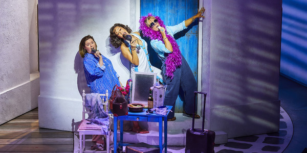 Gemma Goggin as Rosie Josie Benson as Tanya Mazz Murray as Donna Sheridan. Photo by Brinkhoff Moegenburg.