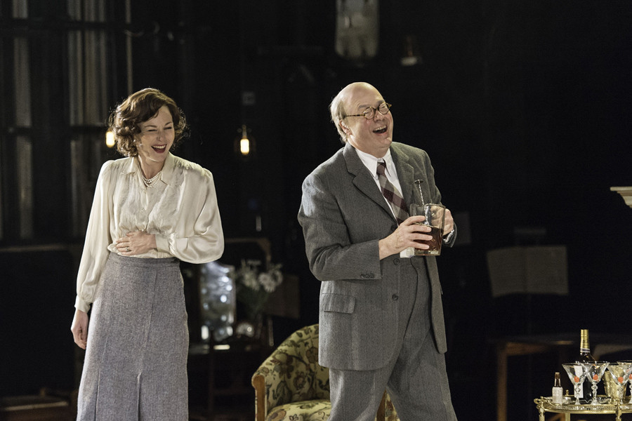 Nancy Carroll and Roger Allam in The Moderate Soprano at Hampstead Theatre (Photo: Manuel Harlan)
