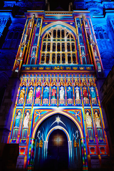 The Light Of The Spirit installation at London Lumiere 2016 (Photo: Matthew Andrews/VisitLondon.com)
