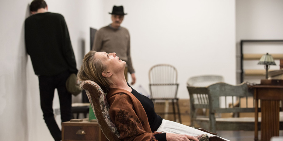 Lesley Manville in rehearsal for Long Day's Journey Into Night