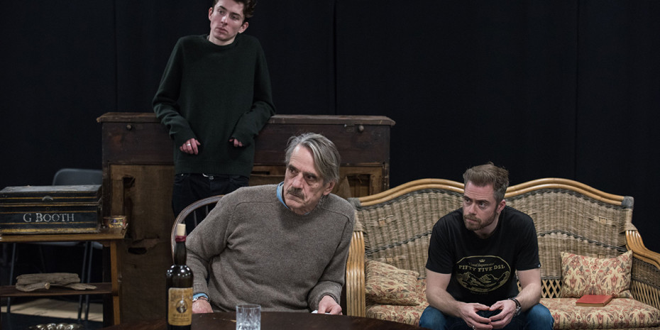 Matthew Beard, Jeremy Irons and Rory Keenan in rehearsal for Long Day's Journey Into Night
