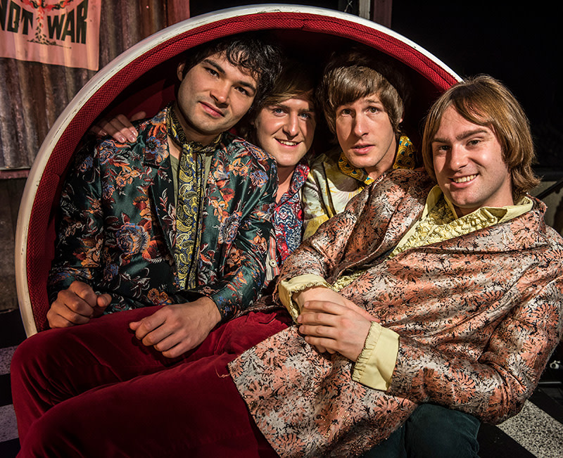 Stanton Wright, Stefan Edwards, Alexander Gold & Samuel Pope as the Small Faces in All Or Nothing - The Mod Musical (Photo: Phil Weedon)