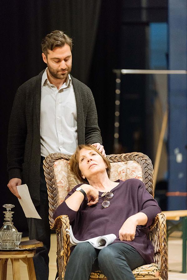 Sargon Yelda (Oscar Ekdahl) and Penelope Wilton (Helena Ekdahl) in rehearsal for Fanny & Alexander at The Old Vic (Photo: Manuel Harlan)