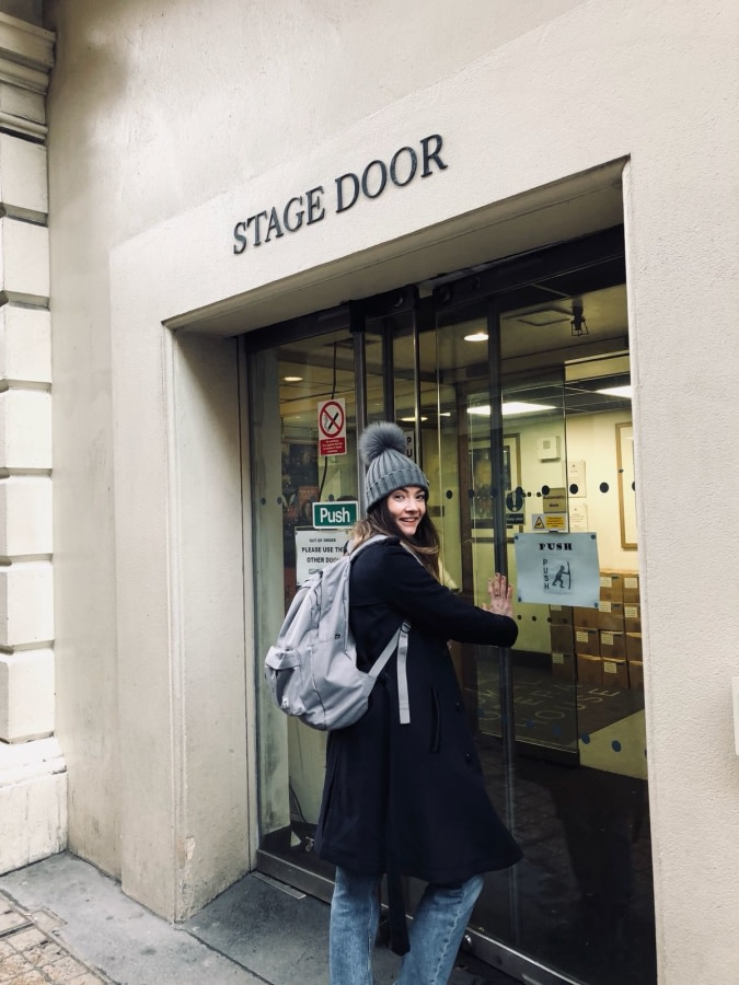 At stage door - Claire Calvert's photo diary