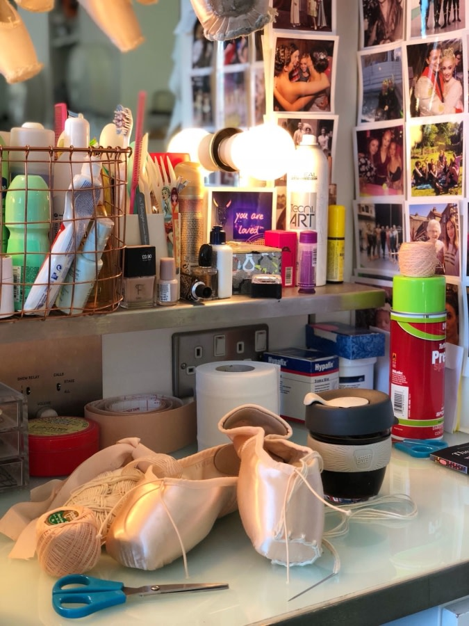 Preparing pointe shoes - Claire Calvert's photo diary