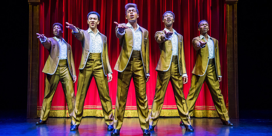 The cast of Motown The Musical at Shaftesbury Theatre (Photo: Tristram Kenton)
