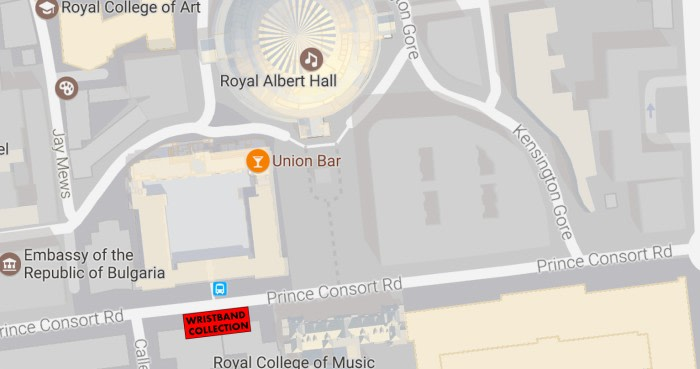 Olivier Awards Red Carpet Access wristband collection point